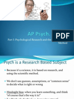 AP Psych Prep 2 (Part I) - Research and Experimental Method