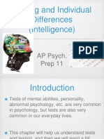AP Psych Prep 11 - Testing and Individual Differences