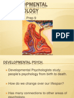AP Psych Prep 9 - Developmental Psychology