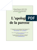Apologie de La Paresse