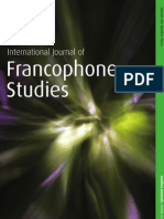 International Journal of Francophone Studies