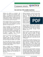 M2M - the rise and rise of the mobile machines