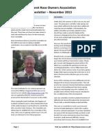 MROA Newsletter - Nov 2013