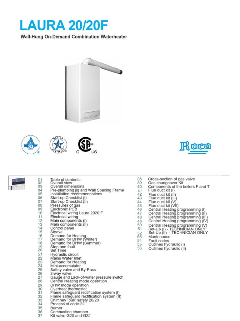 Manual+Caldera+Roca+Laura+20 20F+(Ingles)   Thermostat   Valve