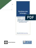 Forum sur la Gouvernance au Cameroun - Resume des Echanges
