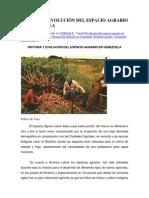 HISTORIA Y EVOLUCIÓN DEL ESPACIO AGRARIO DE