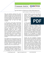 Regulations upping the ante on electronic data management