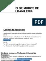 DISEÑO DE MUROS DE ALBAÃ'ILERIA