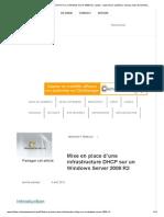Mise en place d'une infrastructure DHCP sur un Windows Server 2008 R2 _ Lolokai - Supervision, systèmes, réseaux, base de données..
