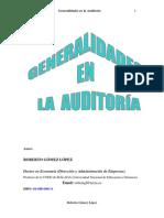 Generalidades en La Auditoria