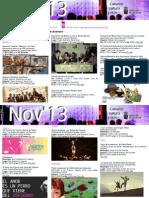 Agenda Cultural NOV Del 27 Al 1 Dic TFE