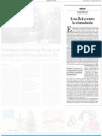 131127 La Vanguardia - Una llei contra la ciutadania - Josep Mayoral