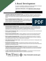USDA Rural Development Resource Guide