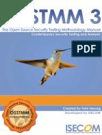 Open Source Security Testing Methodology Manual v3