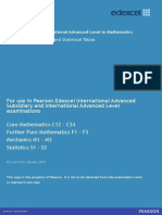 Edexcel IAL Mathematics formula book