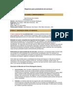 Modelo de Plano de Negócios para prestadores de serviços