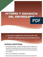 INTERÉS Y GANANCIA DEL EMPRESARIO