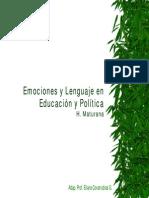 Clase1 Emociones y Lenguaje en Educ y Politica