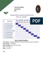 Cronograma Pláticas Tesis 201334234