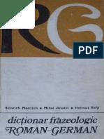 Dict Frazeologic Roman-german