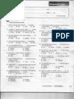 ENGLISH Diagnostic Test for CLASS E