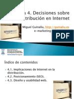 Tema 4. Decisiones sobre distribución en Internet