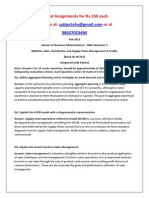 MK0010–Sales, Distribution and Supply Chain Management