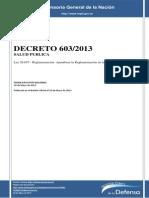 Decreto 603_13 Reglamentacion Ley 26.657
