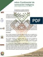 Declaracion de la II Cumbre Continental de Comunicación Indígena del Abya Yala