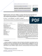 Hydrostatic pressure effect on the electrical properties of A conducting polymer (P3DMTPT) p-Si Al structure هام