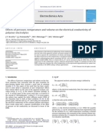 Effects of Pressure, Temperature and Volume on the Electrical Conductivity of Polymer Electrolytes