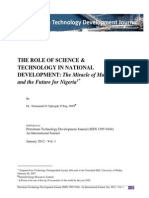 Role of Science & Technology