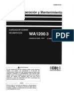 Manual de Op. y Mant. WA1200-3 (Esp) Serial Numbers 50007 and Up GSN00144-02