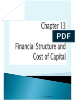 Financial structure and cost of capital