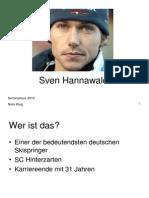 Sven Hannawald präsentation
