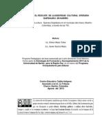RESCATE  DE LA IDENTIDAD  CULTURAL  EPERARA SIAPIDAARA  EN NARIÑO