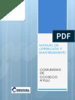 Manual de Operacion y Mantenimiento Ccoscco Ayllu