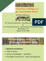 Essential Role of Religion - Full