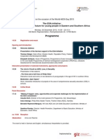 WAD 2013 Programme