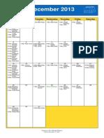 Oakmont UMC Calendar Dec 2013