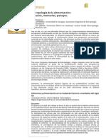 Articulo Cantero y Medina 2011. Antropologia de La Alimentacion