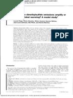 Will Marine Dimethylsulfide Emissions Amplify or Alleviate Global Warming a Model Study.