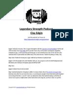 Clay Edgin - Legendary Strength Podcast