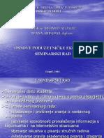 Osnove poduzetničke ekonomje-prezentacija-upute-Kako izraditi seminarski rad-2010.-2011.