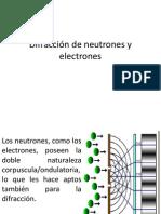 Difracción de neutrones y electrones