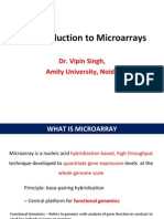 An Introduction to Microarrays Mtech Sem I .Ppt
