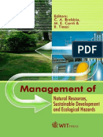 Management of Natural Resources Sustainable Development and Ecological Hazards
