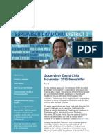 Supervisor Chiu November 2013 Newsletter
