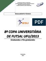 8 Copa Futsal Regulamento