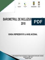 Barometrul de Incluziune Sociala Populatie Si Grupuri Vulnerabile